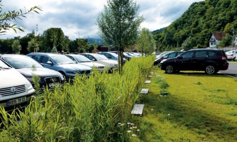 Parkoviská so zelenými plochami