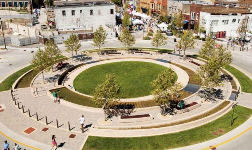 Zelené vodné námestie – Normal, US