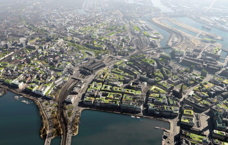 Hamburg – Program finančných stimulov na podporu zelených striech
